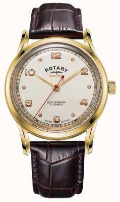 Rotary Męskie | edycja limitowana | dziedzictwo | brązowy skórzany pasek GS05143/03