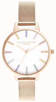 Olivia Burton | damskie | tęcza | bransoletka z różowego złota | OB16RB24