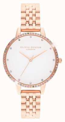 Olivia Burton | damskie | tęczowa ramka | bransoletka z różowego złota | OB16RB21