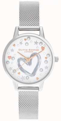 Olivia Burton Różowozłoto-srebrna bransoletka z siatki OB16LH12