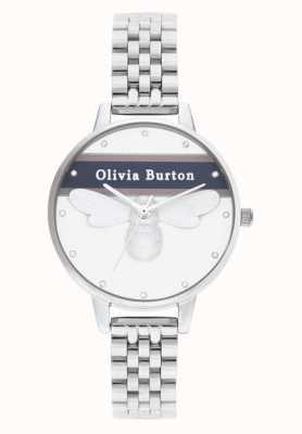 Olivia Burton | damskie | uniwerek szczęśliwa pszczoła | srebrna bransoletka | OB16VS07