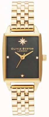 Olivia Burton | niebiańskie sztuczne | czarna tarcza z masy perłowej | złota bransoletka OB16GD60