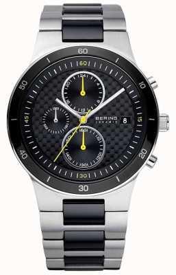 Bering | męskie | bransoletka ze stali ceramicznej | zegarek z chronografem | 33341-749