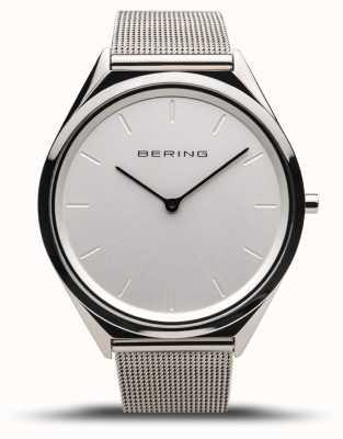 Bering | unisex | bardzo cienki | bransoletka z polerowanej srebrnej siatki | 17039-000