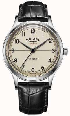 Rotary | męskie | edycja limitowana | dziedzictwo | czarny skórzany pasek | GS05125/32