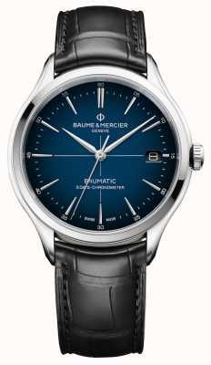 Baume & Mercier Clifton | baumatic | niebieska tarcza cadran | czarny pasek M0A10467
