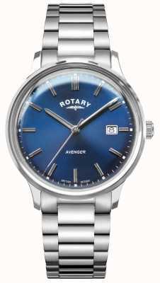Rotary Mściciel mężczyzn | bransoleta ze stali nierdzewnej | niebieska tarcza GB05400/05