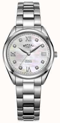 Rotary Henley kobiet | bransoleta ze stali nierdzewnej | tarcza diamentowa LB05110/07/D