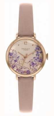 Radley | damski pasek ze skóry | tarcza w kwiatowy wzór | RY2980