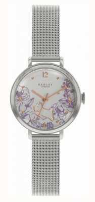 Radley | bransoletka ze stali dla kobiet | tarcza w kwiatowy wzór RY4523