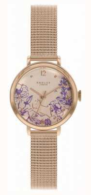 Radley | damska bransoletka z różowego złota | tarcza w kwiatowy wzór RY4524