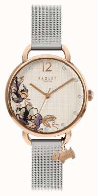 Radley | srebrna bransoletka damska | tarcza w kwiatowy wzór | RY4525