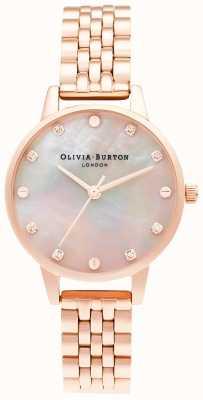 Olivia Burton | tarcza mopa midi ze śrubą | bransoletka z różowego złota | OB16SE10