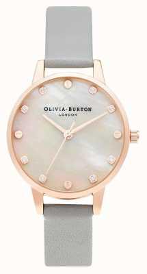 Olivia Burton | tarcza mopa midi ze śrubą | szare i różowe złoto | OB16SE12