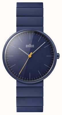Braun Mężczyźni | klasyczny | niebieska bransoletka ceramiczna | niebieska tarcza BN0171NVNVG