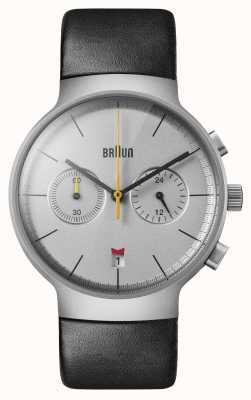 Braun Mężczyźni | klasyczny | chronograf | czarna skóra BN0265SLBKG