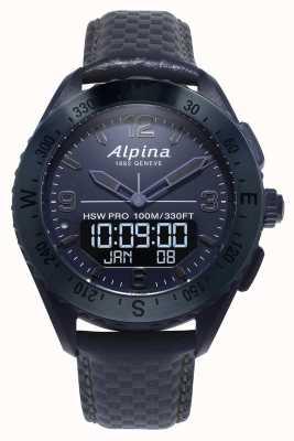 Alpinarx | edycja kosmiczna | smartwatch | niebieski skórzany pasek AL-283SEN5NAQ6