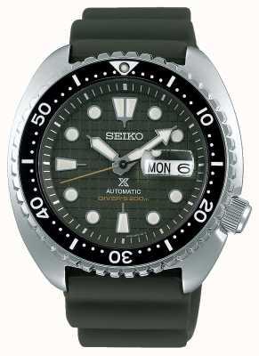 Seiko Prospex męskie mechaniczne | gumowy pasek khaki | tarcza khaki SRPE05K1