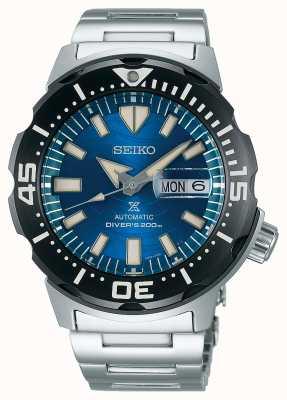 Seiko Prospex męski mechaniczny   uratować ocean   niebieska tarcza SRPE09K1