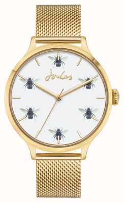 Joules Kobiety | złota siatka pvd | biała tarcza pszczół JSL030GM