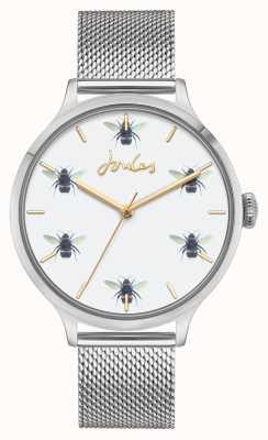Joules Kobiety | siatka ze stali nierdzewnej | biała tarcza pszczół JSL030SM