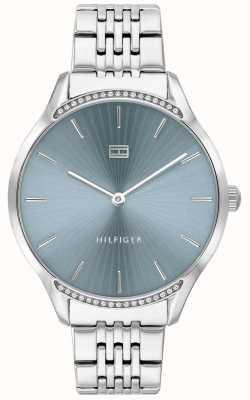 Tommy Hilfiger | szary dla kobiet | bransoleta ze stali nierdzewnej | niebieska tarcza | 1782210