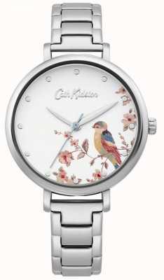 Cath Kidston Damska bransoleta ze stali nierdzewnej | srebrna tarcza ptaka CKL099SM