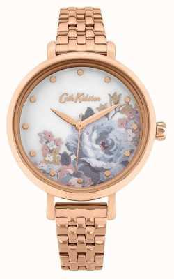 Cath Kidston | somerset dla kobiet | bransoletka platerowana różowym złotem | tarcza kwiatowa CKL087RGM