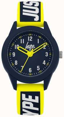 Hype | żółto-niebieski silikonowy pasek | granatowa tarcza | HYK004YU