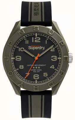 Superdry | osaka | czarny / gumowy khaki | czarna tarcza | SYG305NB