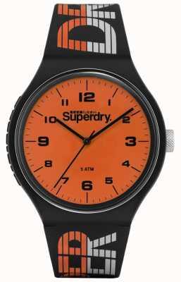 Superdry | wyścigi miejskie XL | niebieski wielokolorowy silikon | pomarańczowy di SYG269BO