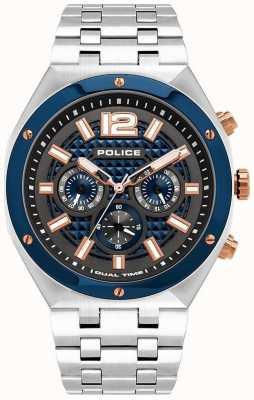 Police | kediri | bransoleta ze stali nierdzewnej | niebieska / metalowa tarcza | 15995JSTBL/61M