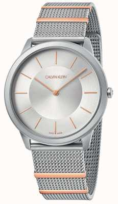 Calvin Klein | minimalna | bransoletka ze stali | srebrna tarcza | K3M511Y6