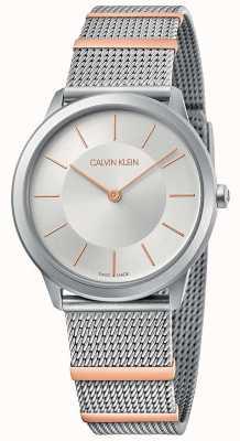 Calvin Klein | minimalna | bransoletka ze stali | srebrna tarcza | 35 mm K3M521Y6