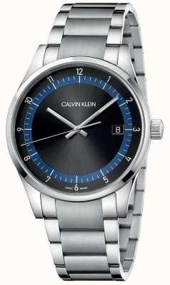 Calvin Klein | zakończenie | bransoleta ze stali nierdzewnej | czarna / niebieska tarcza | KAM21141