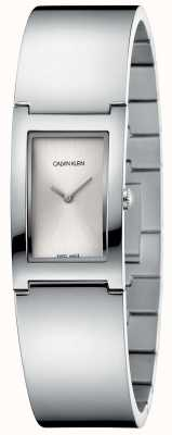 Calvin Klein | polski | bransoleta ze stali nierdzewnej | srebrna tarcza prostokątna K9C2N116