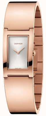 Calvin Klein | polski | bransoleta ze stali pozłacana różowym | srebrna tarcza | K9C2N616