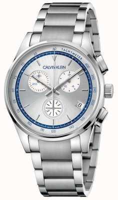 Calvin Klein | zakończenie | bransoleta ze stali nierdzewnej | srebrno-niebieska tarcza | KAM27146