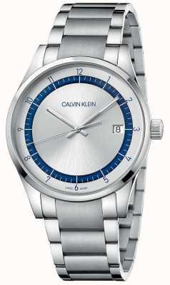 Calvin Klein | zakończenie | srebrna bransoleta ze stali nierdzewnej | srebrna tarcza KAM21146