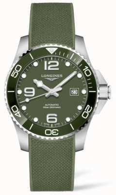 Longines Hydroconquest 43mm | zielona tarcza | gumowy pasek L37824069
