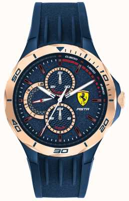 Scuderia Ferrari | męska pista | niebieski gumowy pasek | niebieska tarcza | 0830724