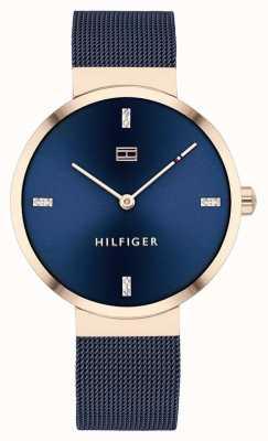 Tommy Hilfiger Liberty | niebieska bransoletka z siatki | niebieska tarcza | 1782219