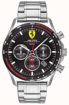Scuderia Ferrari | pilot męski evo | bransoleta ze stali nierdzewnej | czarna tarcza | 0830714