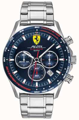 Scuderia Ferrari | pilot męski evo | bransoleta ze stali nierdzewnej | niebieska tarcza 0830749