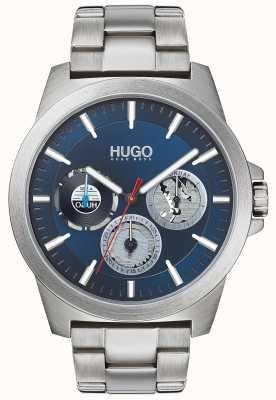 HUGO #twist | bransoleta ze stali nierdzewnej | niebieska tarcza 1530131