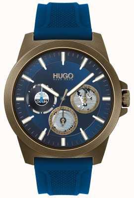 HUGO #twist | niebieski gumowy pasek | niebieska tarcza 1530130