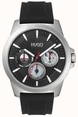 HUGO #twist | czarny gumowy pasek | czarna tarcza | 1530129