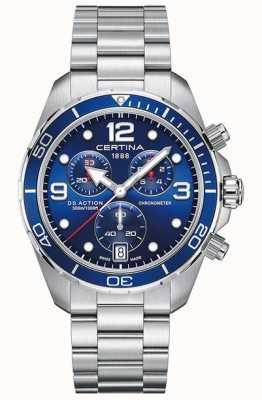Certina Ds action chrono | chronometr | bransoleta ze stali nierdzewnej C0324341104700
