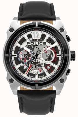 Police Antrim dla mężczyzn | chronograf | czarny skórzany pasek 16020JSTB/04