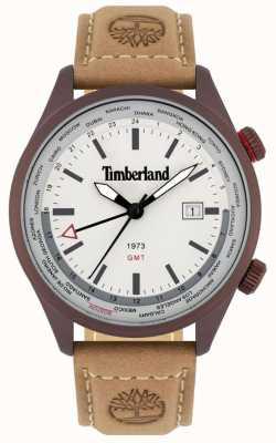 Timberland Mężczyźni | malden | gmt | brązowy skórzany pasek | kremowa tarcza 15942JSBN/13